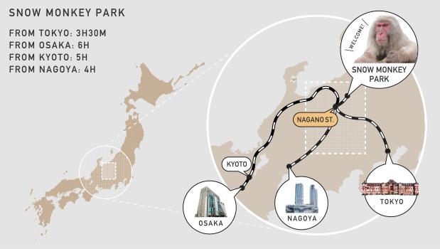 JAPAN NAGANO MAP