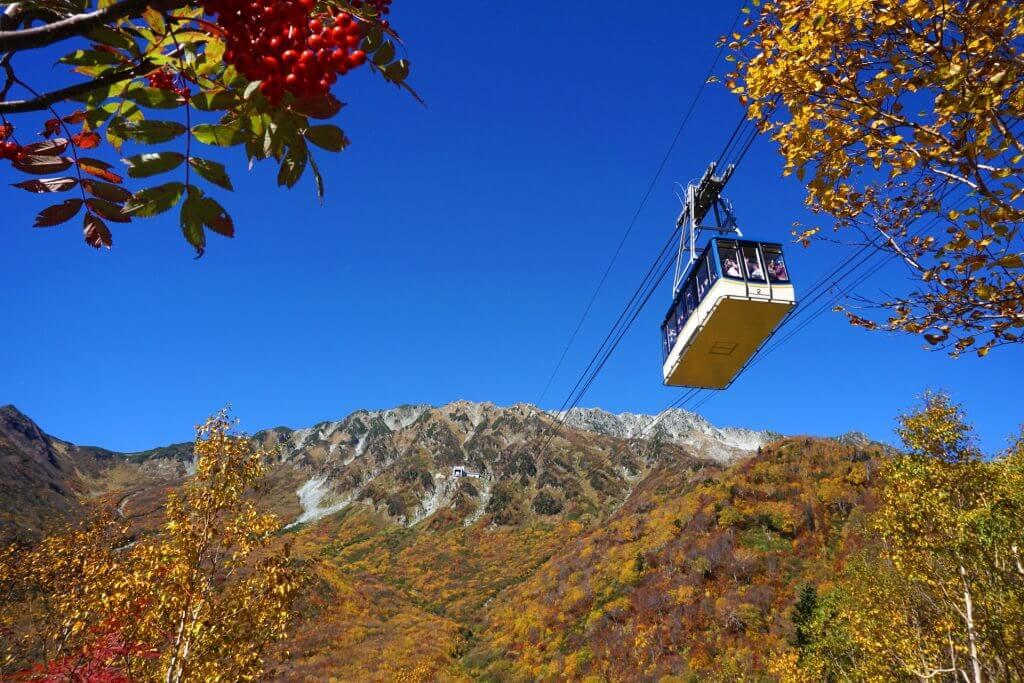 tateyama-kurobe-alpine-route-ropeway-autumn
