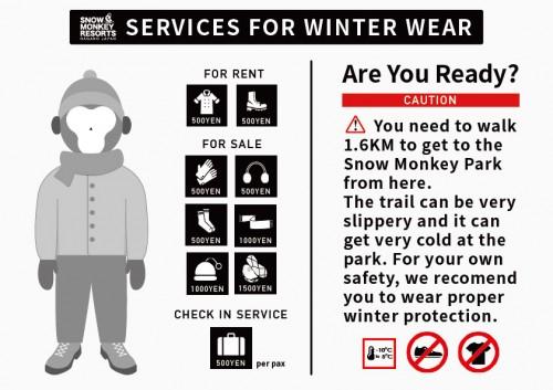 Winter wear info board