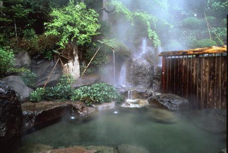 Onsen at the Senjukaku hotel