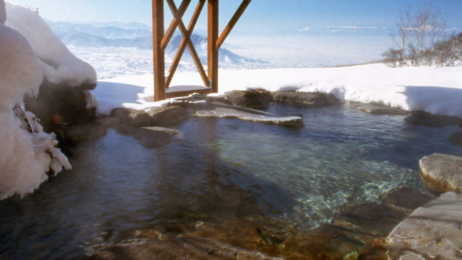 Snow mountain onsen