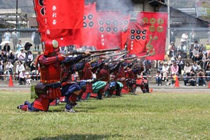 Firing line at Sanada festival, Matsushiro