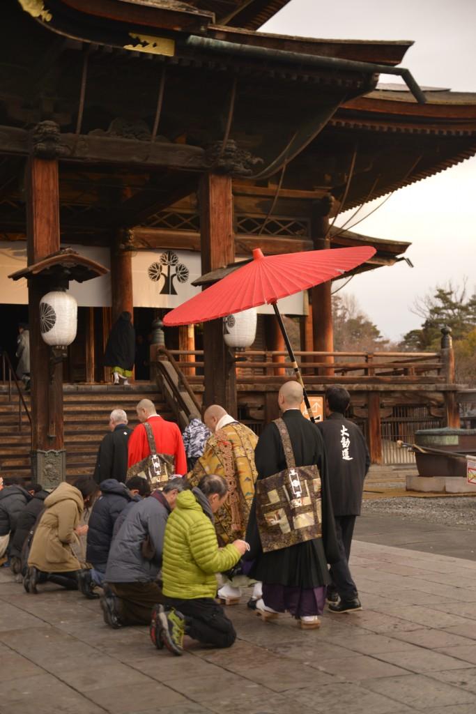 O-asaji morning service at Zenko-ji Temple