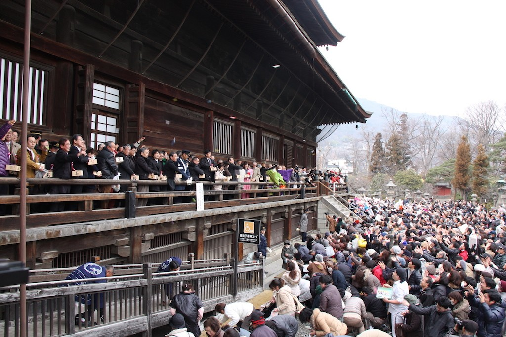 Setsubun, Zenko-ji temple Nagano