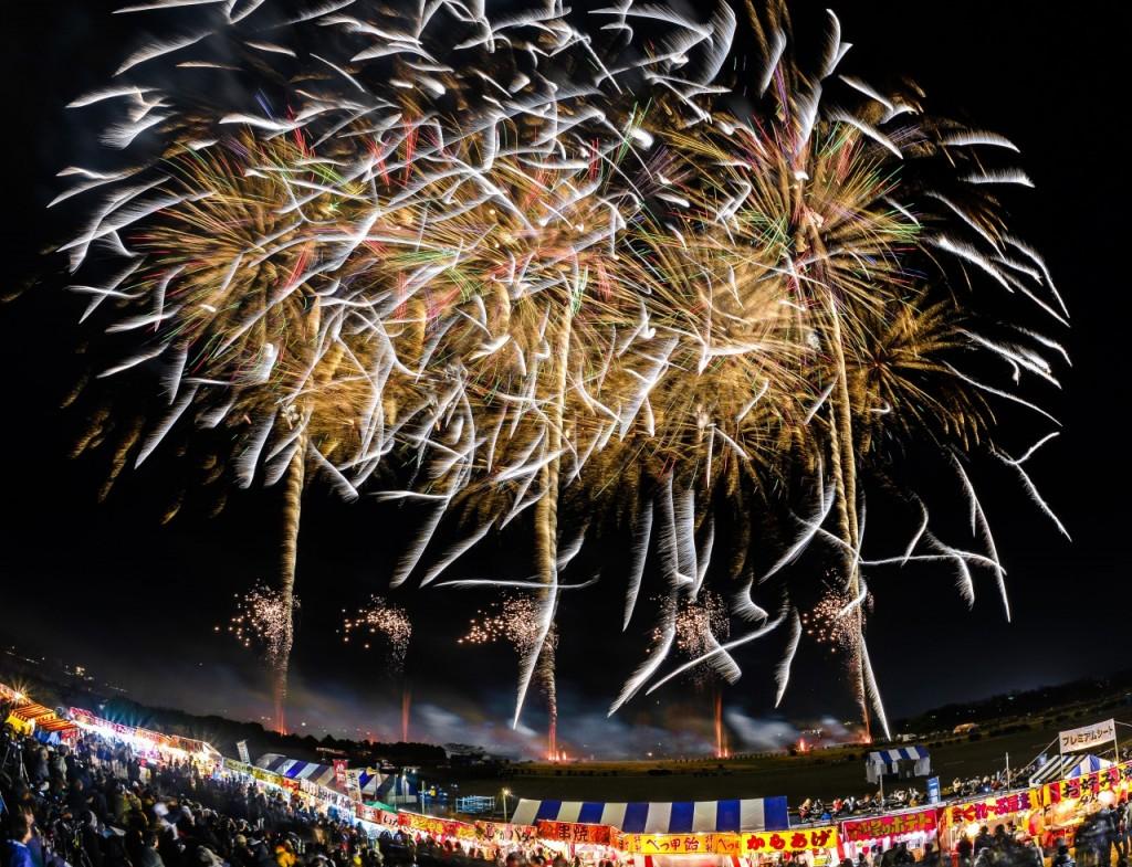 Ebisuko Fireworks festival in Nagano