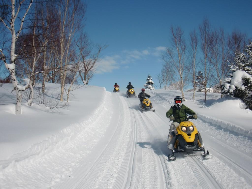 Snowmobile in Shigakogen5
