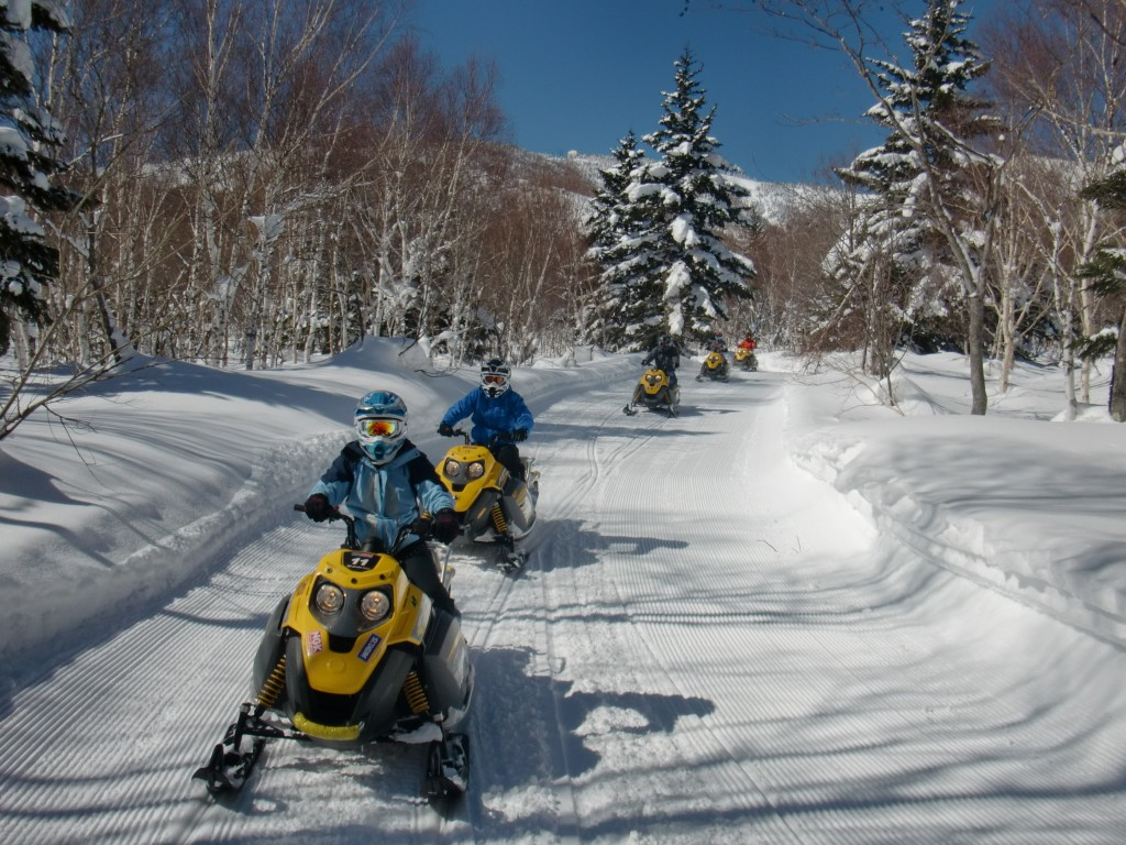 Snowmobile in Shigakogen2