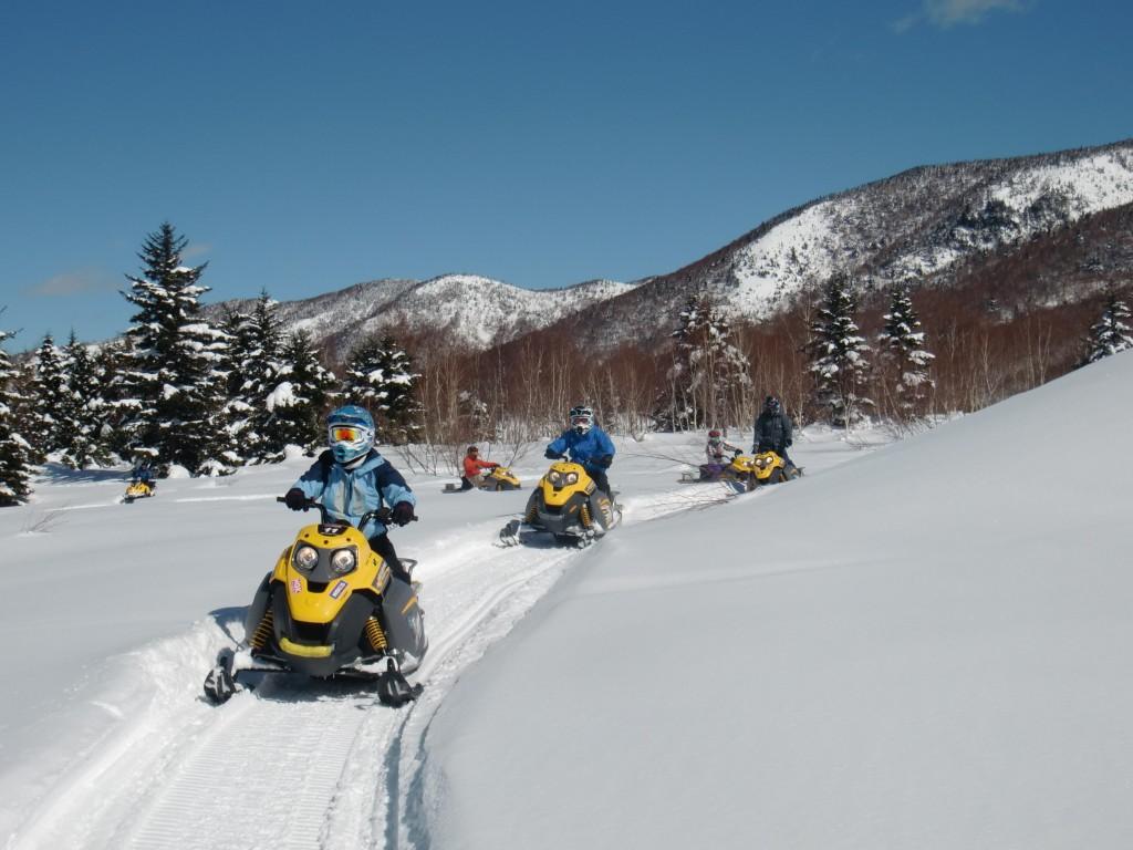 Snowmobile in Shigakogen1
