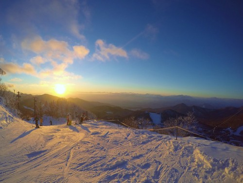 shiga ski takamagahara sunset