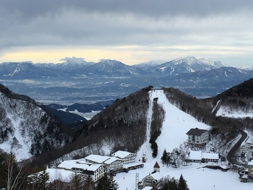 Shiga-view from sunvally ski slope
