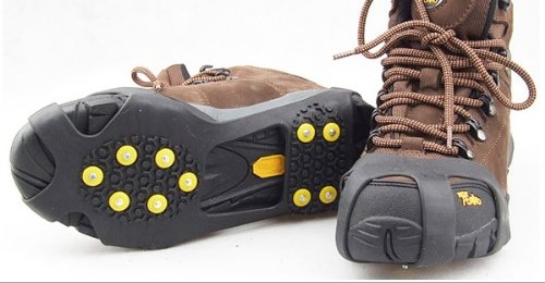 crampon with boots