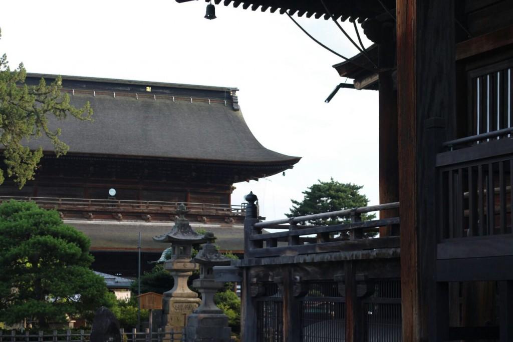 View from Main Hall Zenko-ji Temple