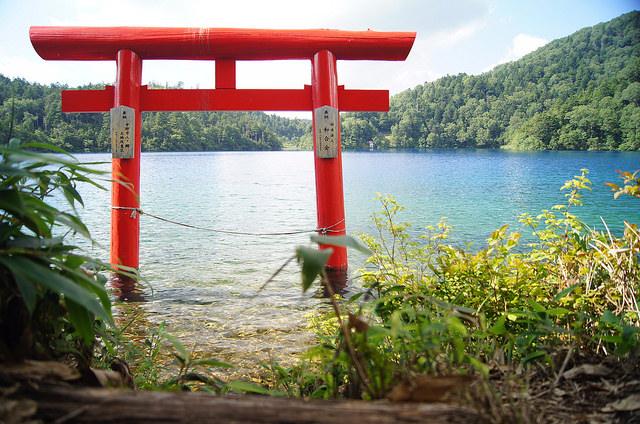 Onuma Lake Shiga Kogen Torii