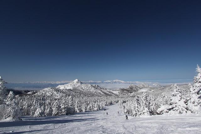 Shiga Kogen winter ski landscape