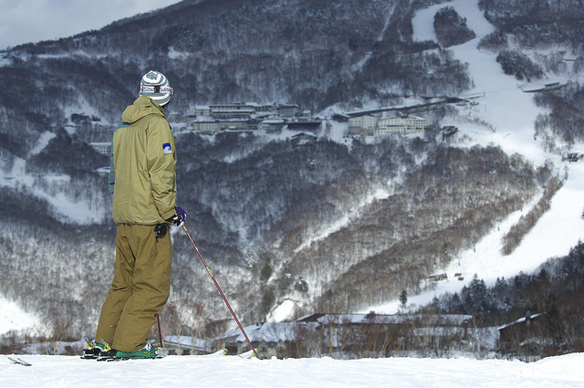 Shiga Kogen winter ski lookout