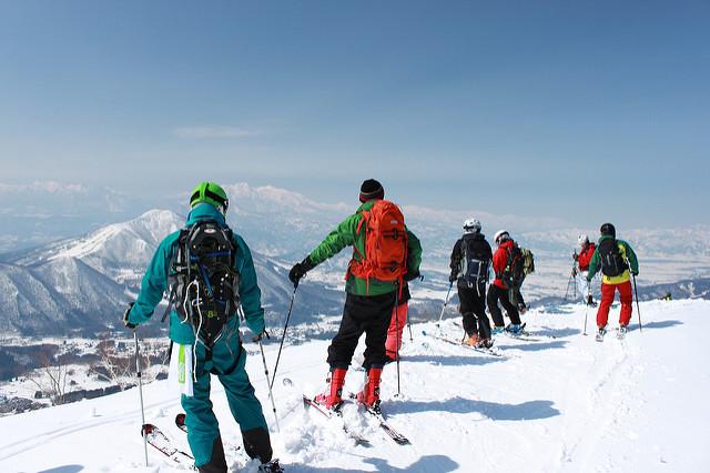 Shiga Kogen winter skiing landscape