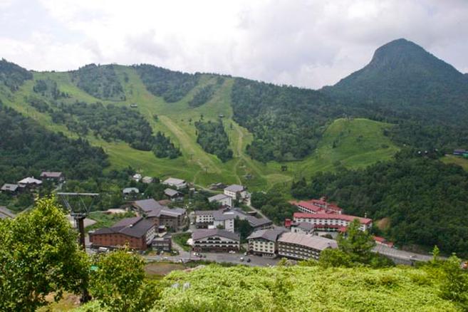 view from maeyama lift shigakogen