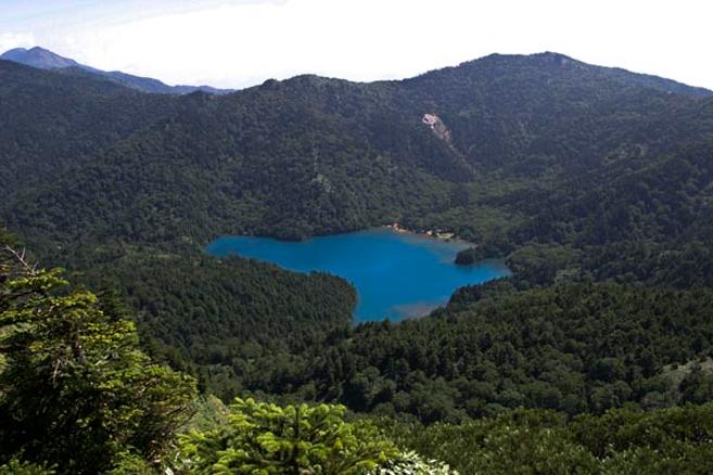 shiga kogen onuma lake from Shiga Mountain top