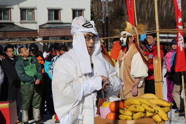 shiga kogen first snow festival prayer
