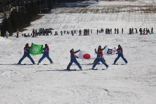 shiga kogen first snow festival ski demonstration 3