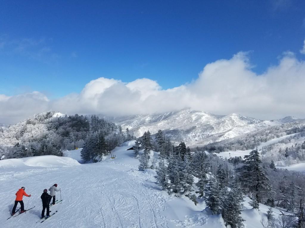 Ski Slipe down from 200° Cafe in Shiga Kogen