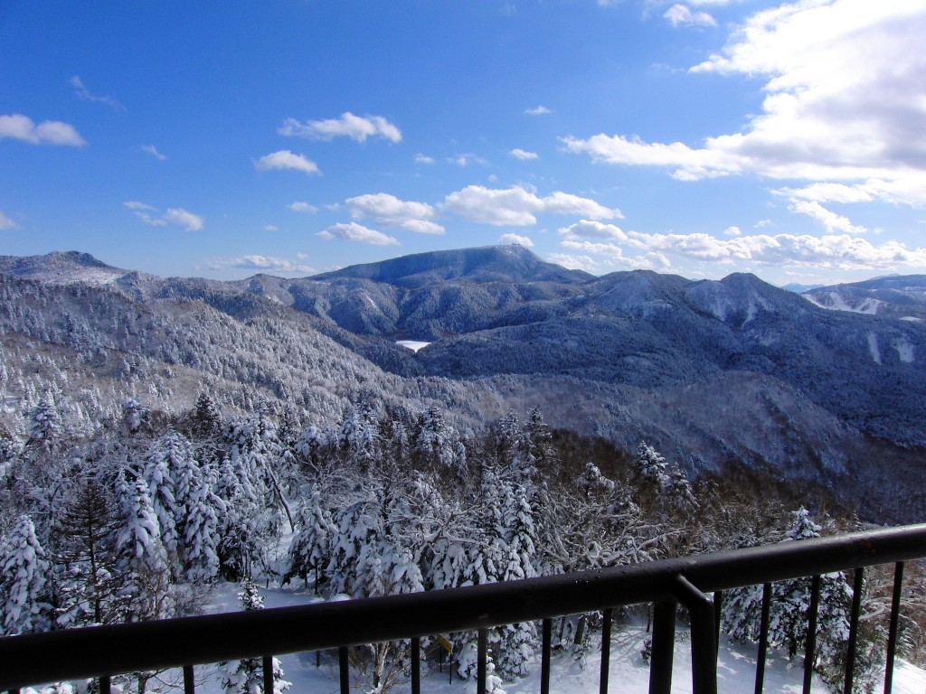 View from 200° cafe in Shiga Kogen