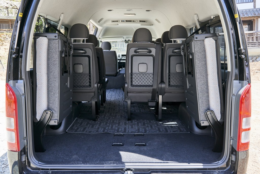 1. hiace luggage space