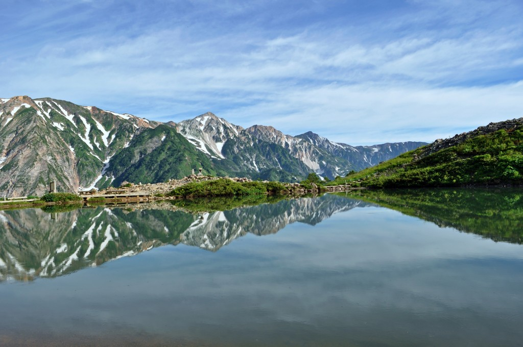 Hakuba Sanzan Happo Pond Green Season
