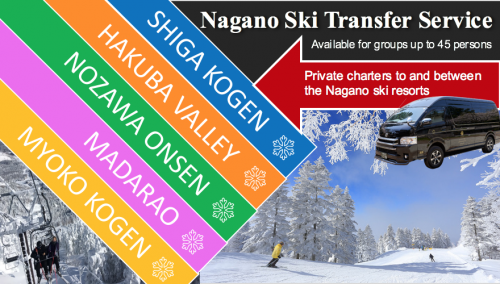 charter between Nagano ski resorts banner