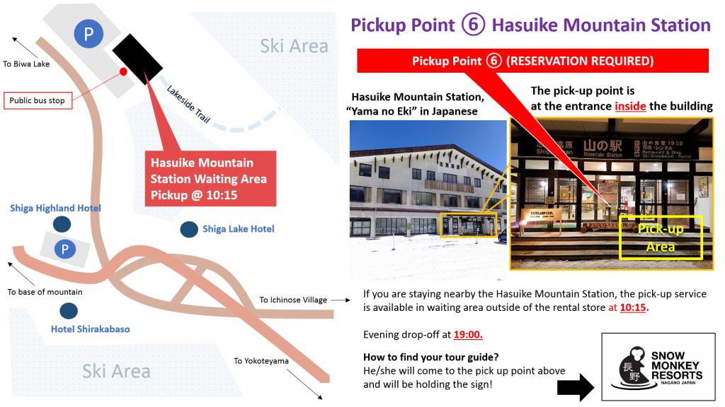 Hasuike pickup point Zenkoji