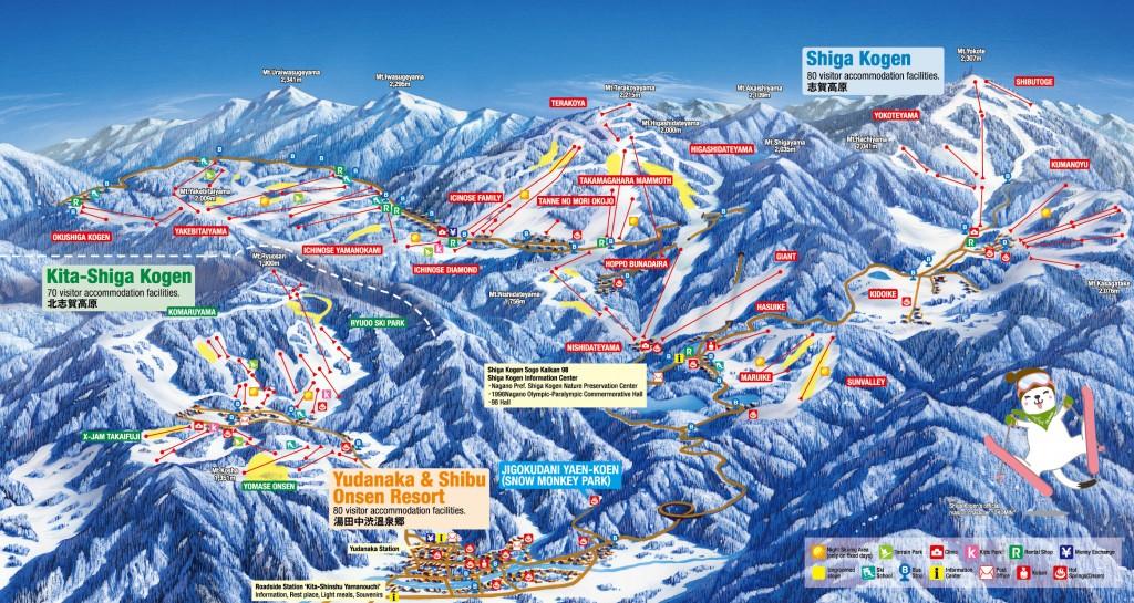 shiga kogen ski map 2018