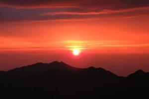 tateyama-kurobe-alpine-route-sunset