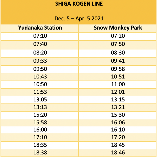 winter-snow-monkey-shiga-kogen-line-timetable