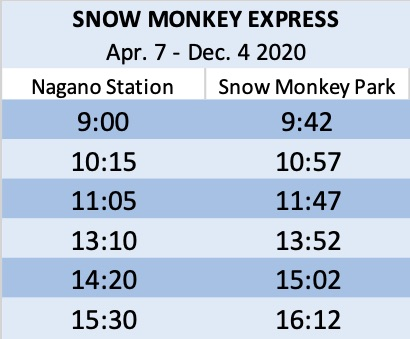 snow-monkey-express-bus-nagano-station