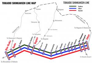 Tokaido-Shinkansen-Line-Map