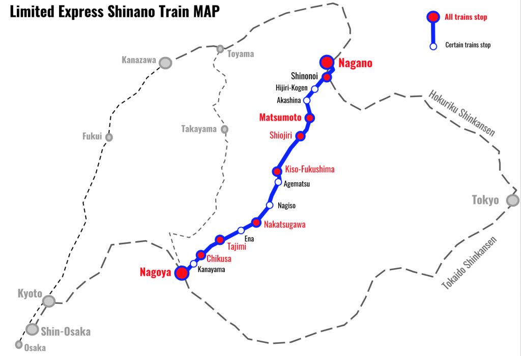 特快-信浓列车-地图