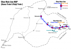 Chuo-Main-Line-Azusa-Train-Kaiji-Train-MAP
