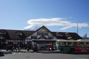 Kawaguchiko-Station-mount-fuji