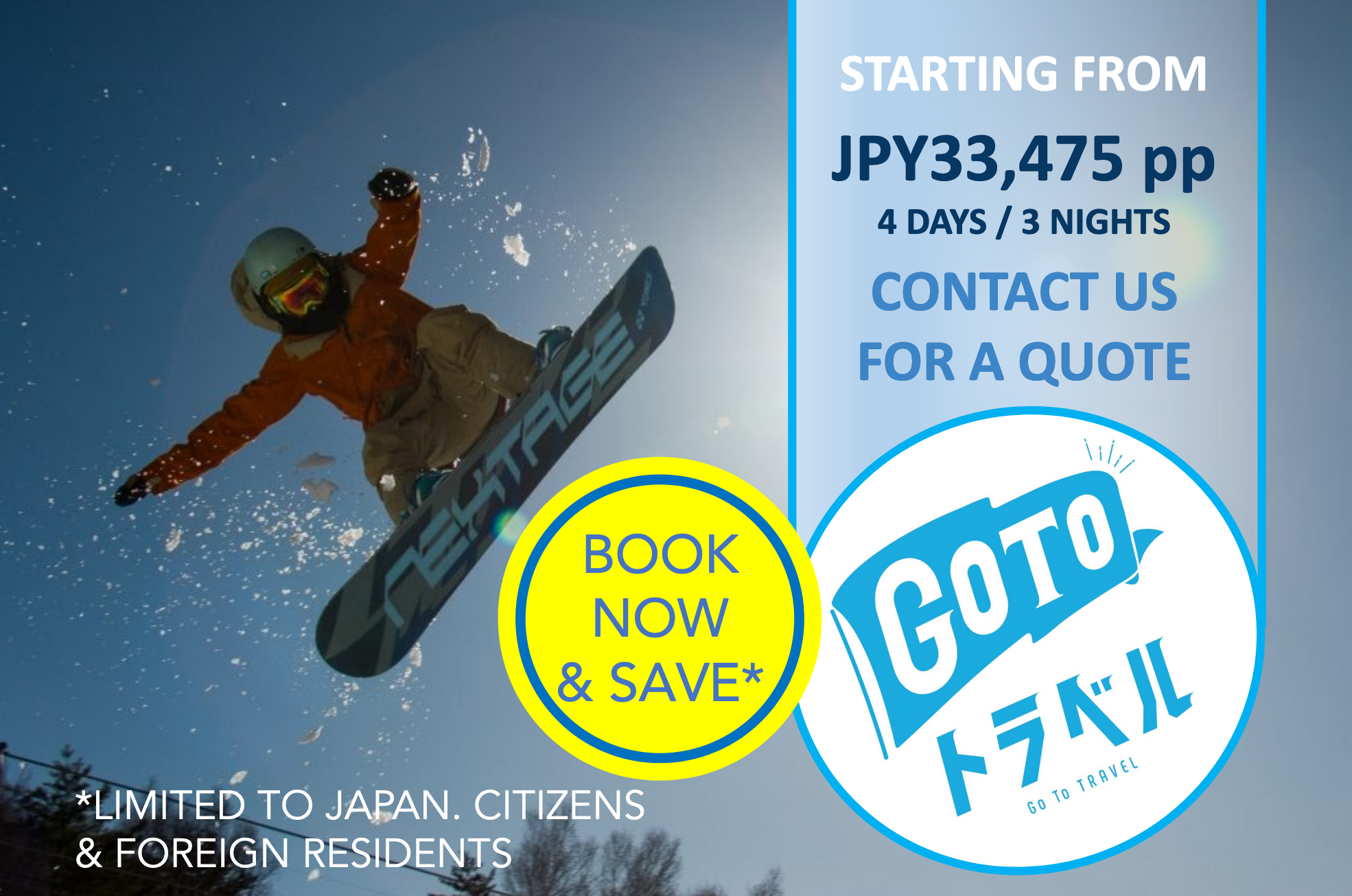 Winter 2020/21: Ski & Snowboard Packages in Nagano