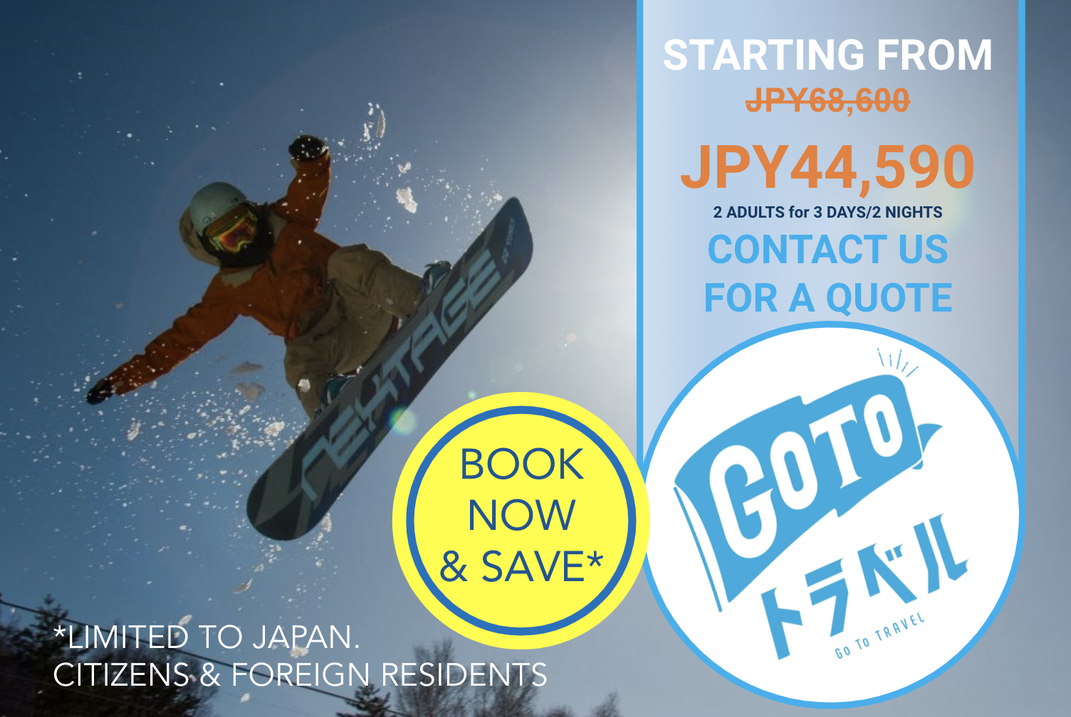Go To Deals: Ski & Snowboard Packages in Nagano 2020/21