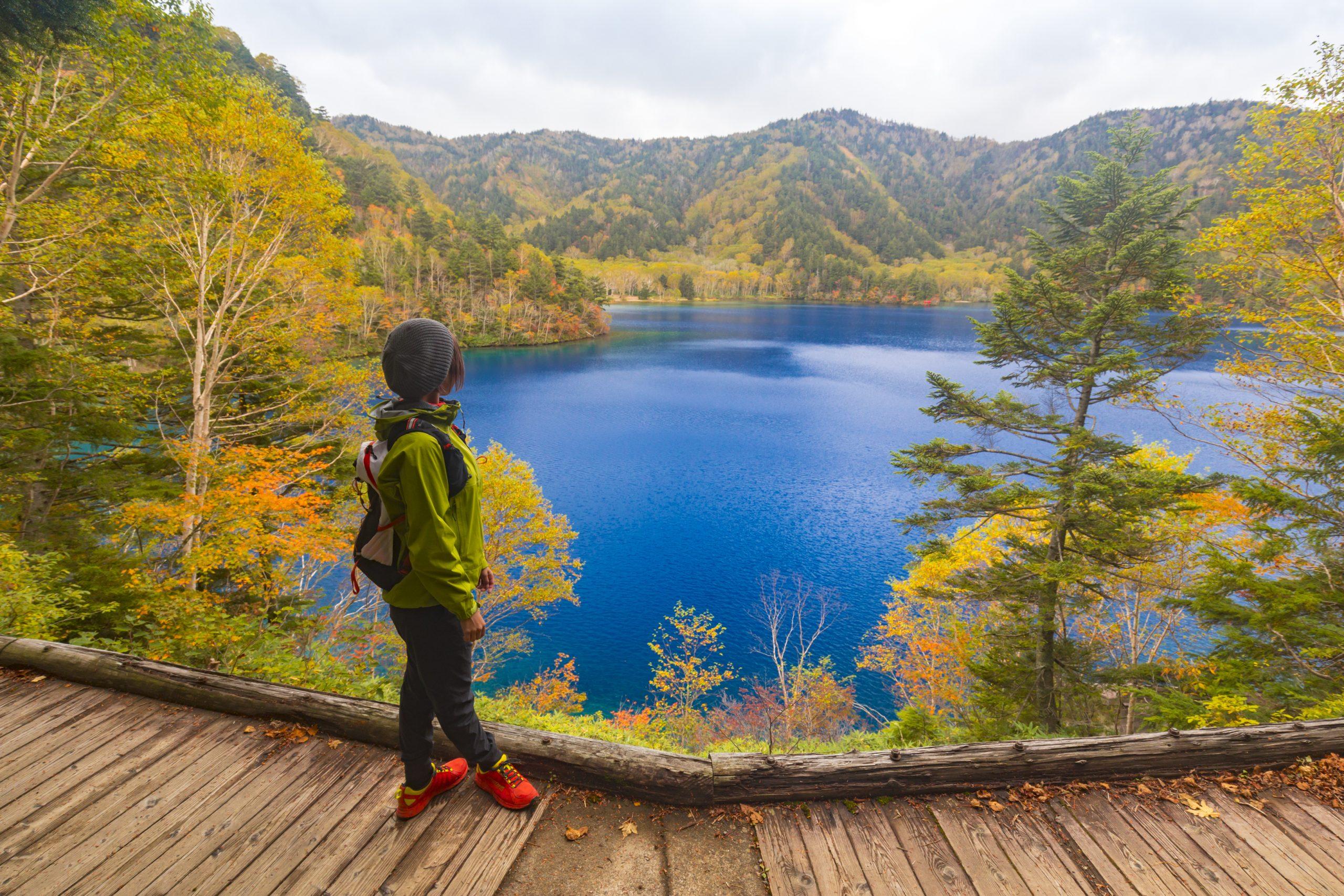 志贺高原的徒步旅行、骑自行车和摄影活动