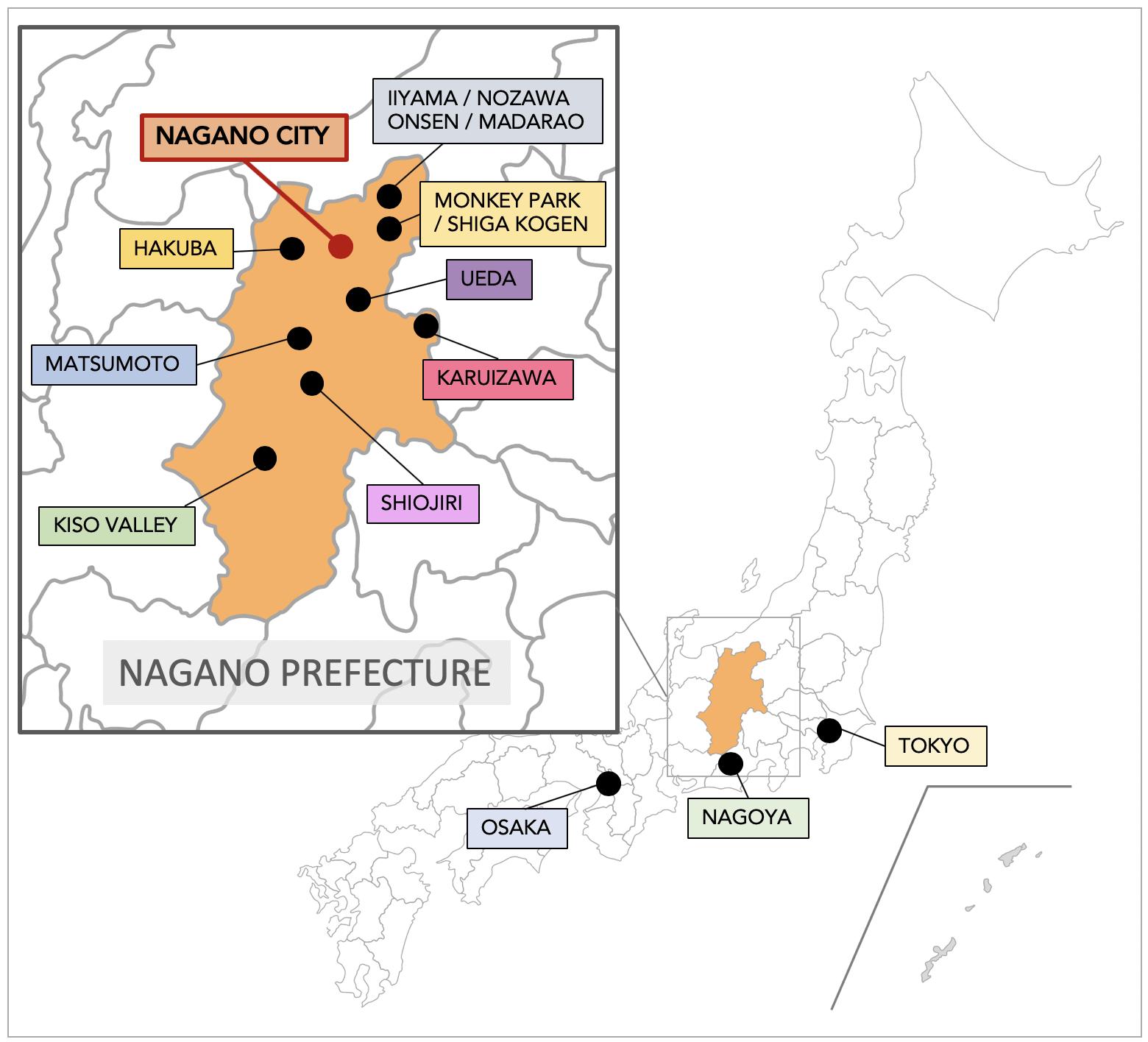nagano-prefecture-map