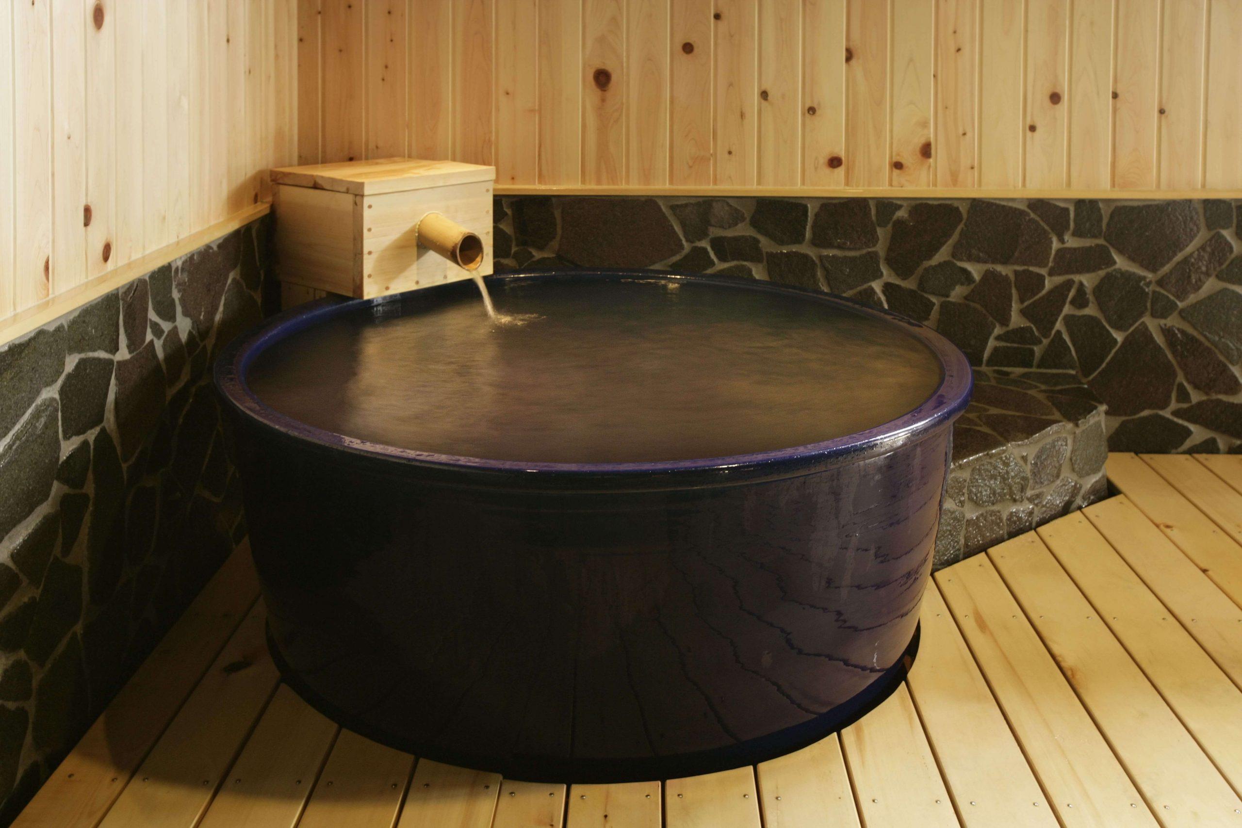 享受和風之宿的多重浴場