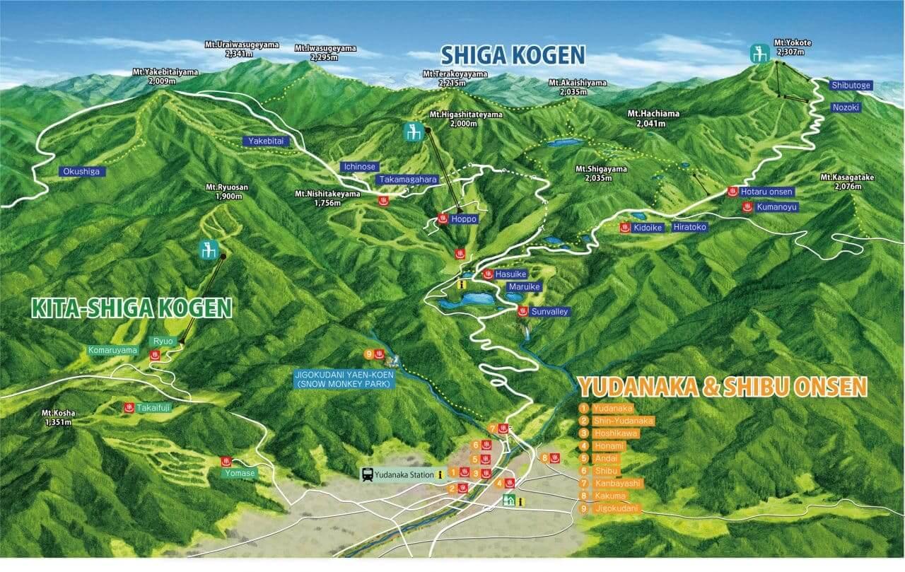 shiga-kogen-highlands-green-season-map
